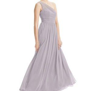 Azazie Bridesmaid Dress Nora Size 8 Dusk Color